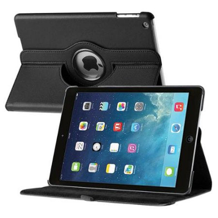 Insten For Apple iPad Air 360 Swivel Leather Case-Black