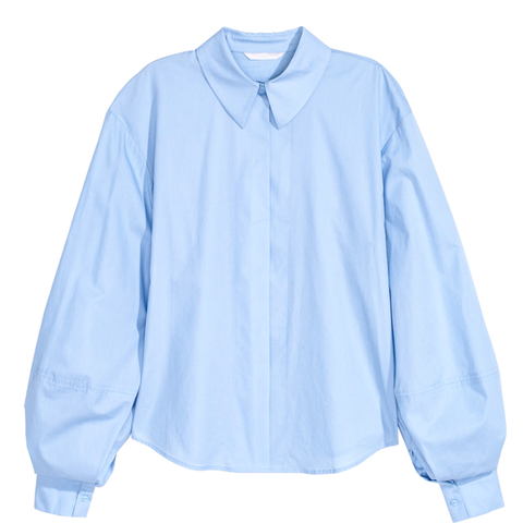 H&M 1522/1 Women Light Blue Shirt - SHW