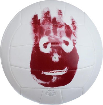 Wilson HF048 Cast Away Ball Volleyball Indoor/Outdoor Beach Training Ball White/Burgundy