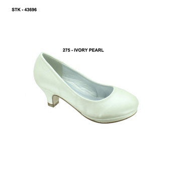 Pierre Dumas Kara-1 Kids White Small Heel Shoe-SHW