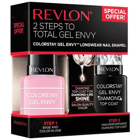 Revlon 2 Steps To Total Gel Envy Color Stay Longwear Nail Enamel-GL