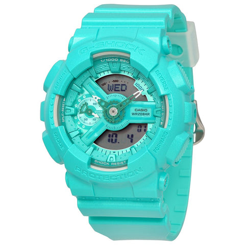 G-Shock GMAS110VC-3A-Women Analog-Digital Turquoise Watch-GL