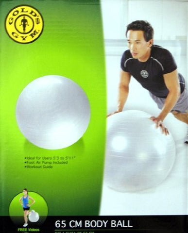 Golds Gym 05-0065GG Anti-Burst Body Exlcusive Work Out Ball with Pump NIB 65cm Workout