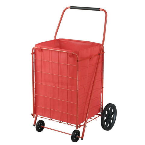 Sandusky 4-Wheel Fold Up Utility Cart with Liner, Red