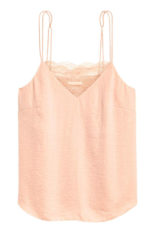 H&M 1522/1-Women Creped Camisole-Peach-SHW