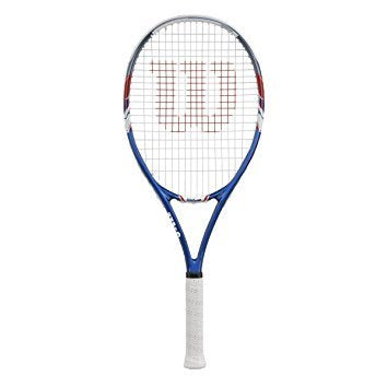 Wilson US Open Strung Tennis Racket, 4 3/8-Inch Blue/Red