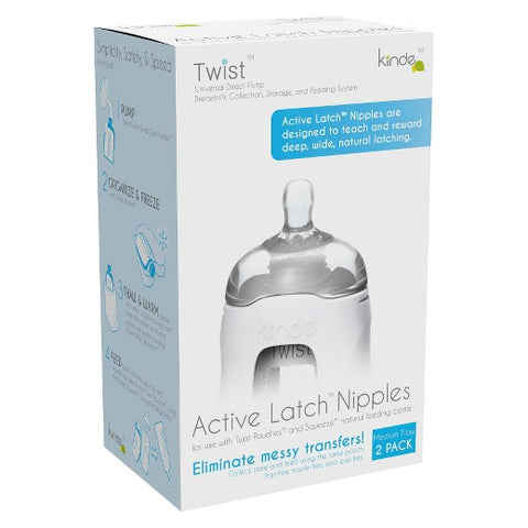 Kiinde Active Latch Bottle Nipple - Medium