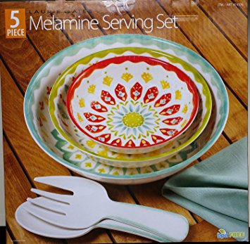 Laurie Gates 5-piece Melamine Serving Set