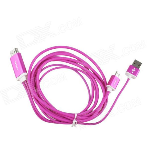 Mobile Phone S5/S3/S4/Note 2/3 HDMI HDTV 2.0m Pink Cable
