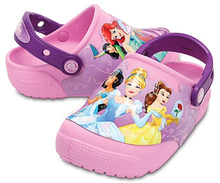 Crocs 204714-57H Kids Fun Lab Lights Princess Clog Amethyst-SHG