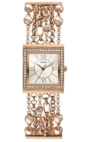 Guess W0417L3-Women Rose Gold Stainless Steel Watch-GL