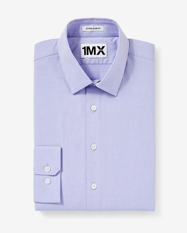 Express 00302151 Men Extra Slim Fit 1MX Longsleeve Shirt Lilac-SHG