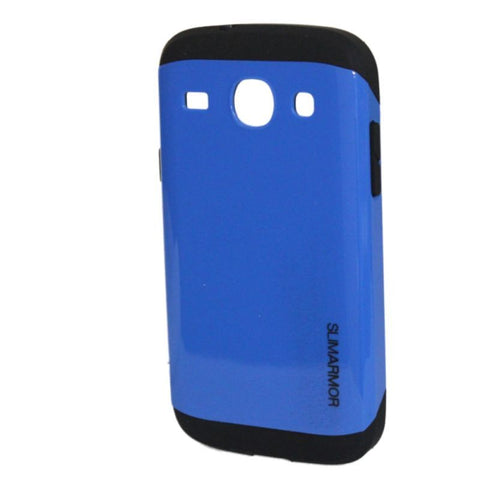 Samsung Galaxy Core 2 Case, Shock Absorption Shockproof Blue/Black