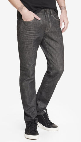 Express Men 4924 Alec Super Skinny Fit Gray Denim Jeans-MT