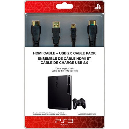 Sony PlayStation 10-Feet HDMI Cable USB 2.0 Cable