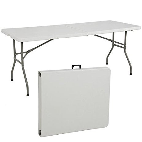 Tailgate NT5271  Folding Table Portable Indoor/Outdoor Picnic/Party/Dining/Camp Tables-White