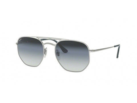 Ray-Ban RB3609 91420S Unisex Square Frame Silver Frame With Grey Lens Sunglass-GL