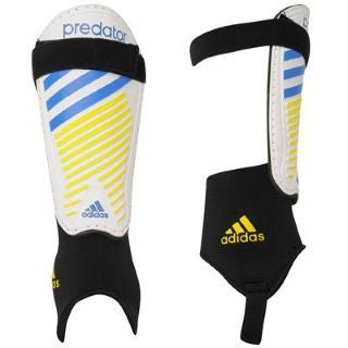 Adidas Z19173 Predator Club Shin Guards White/Yellow/Blue