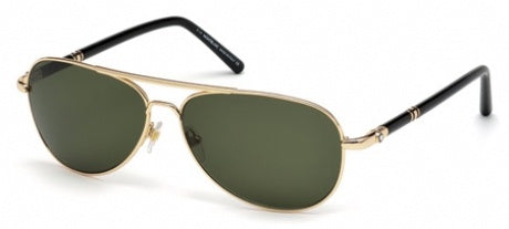 Mont Blanc 509S-28N-Unisex Shiny Rose Gold Sunglass Green-GL
