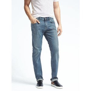 Banana Republic Men Vintage Straight Light Denim Wash Jeans-SHG