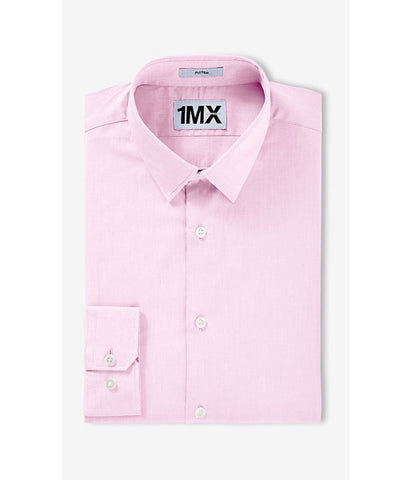Express 5236 Men Fitted Longsleeve Shirt Pink-GL