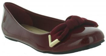 Pierre Dumas Moni-45 Women Red Patent Slip On Flats-SHW