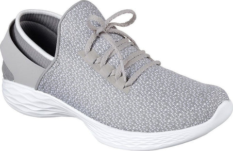 Skechers 14950/GRY Women You-Insipre Goga Max High Rebound Insole Sneakers Gray-MT