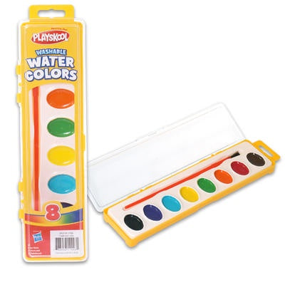 Playskool Washable Paint Set, 8 Non Toxic Colors