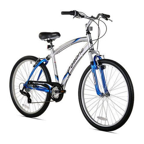 "Northwoods 17130259 Men Pomona 26"" 7-Speed Bicycle Blue/Silver"