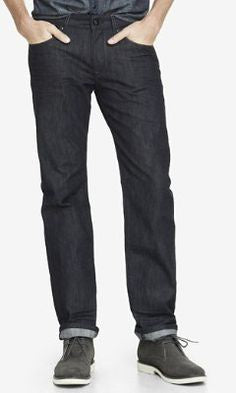 Express 5528 Men Rocco Slim Fit Slim Leg Dark Blue Denim-GL/SHG