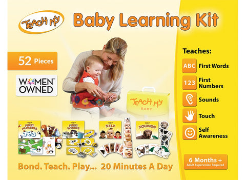Teach My Baby 52 Pieces Learning Kit, 6m+