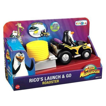 Madagascar Rico's Launch & Go Roadster, 3-8 Years