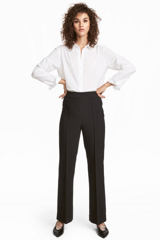 H&M 1722/1 Women Flared Pants Black-SHG/SHF/SHW