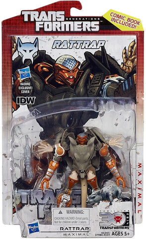 Transformers Generations 30th Anniversary Deluxe IDW Rattrap Deluxe Action Figure, Age 5+