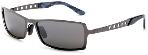 Maui Jim  Unisex MJ228-17 Shark Pit Brushed Silver Frame Neutral Grey Lens Sunglass-GL