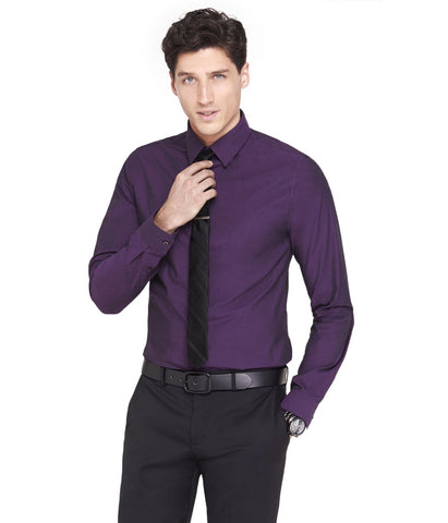 Express 2567 Men Modern Fit 1MX Longsleeve Shirt Purple-GL