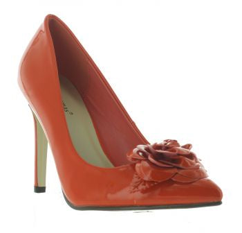 Pierre Dumas Cherry-9 Women Slip On Pointy Toe High Heel Shoe Orange-SHW