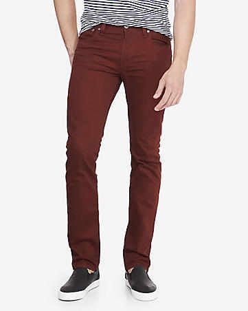 Express-Men Slim Fit Rocco Skinny Leg-Burgundy- SHW