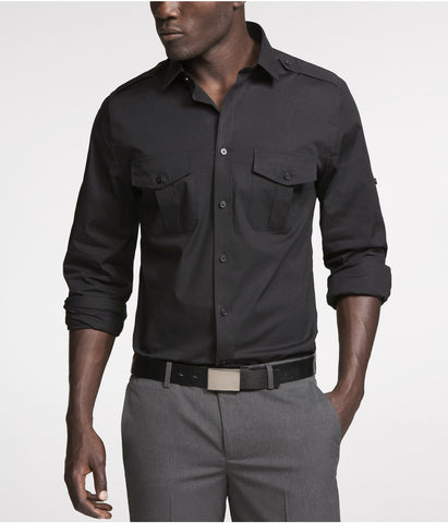 Express 7834 Men MK2 Longsleeve Shirt Black-GL