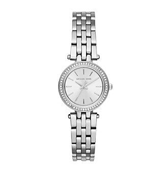 Michael Kors MK3294 Women Mini Darci Silver Dial Stainless Steel Watch-GL