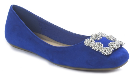 Pierre Dumas Moni-47 Women Slip On Flat Pumps Royal Blue-SHW