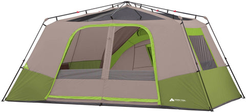 Ozark 25X12 Trail Camping Instant Cabin Tent With Private Room 11 Person Grey/Green