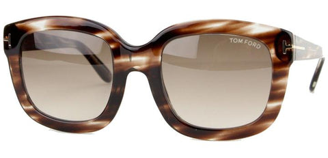 Tom Ford Christophe TF279 49F-Women Rectangular Sunglass  Brown Marble/Brown Gradient -G
