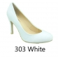 Pierre Dumas Linda-2 Women Round Toe Whole Shoe High Heel-White-SHG