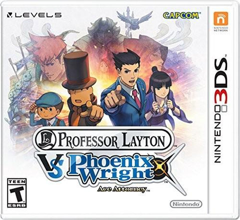 Nintendo 3DS Professor Layton Vs Pheonix Wright Game