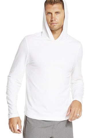 Fabletics Lyon White Pull Over Hoodie-GG