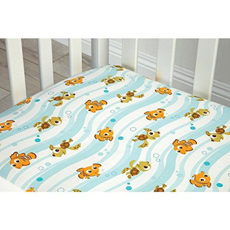 "Disney Baby Finding Nemo Reef Fitted Crib Sheet, 28""*52"""