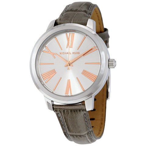 Michael Kors MK2479 Women Hartman Silver Dial Leather Watch Grey/Silver-GL