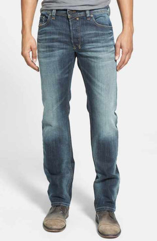 Express 05595448 Men Rocco Slim Fit Slim Leg Performance Stretch Jeans Washed Blue-GL