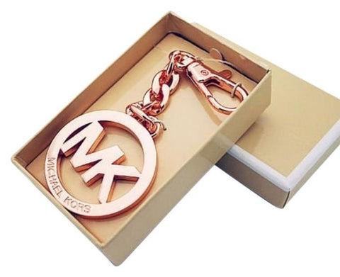 Michael Kors 35H0TKCK1N  Key Charm Key Chain Fob Rose Gold Medallion-GL